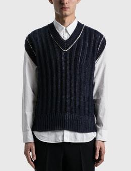Maison Margiela Ribbed Sleeveless Sweater
