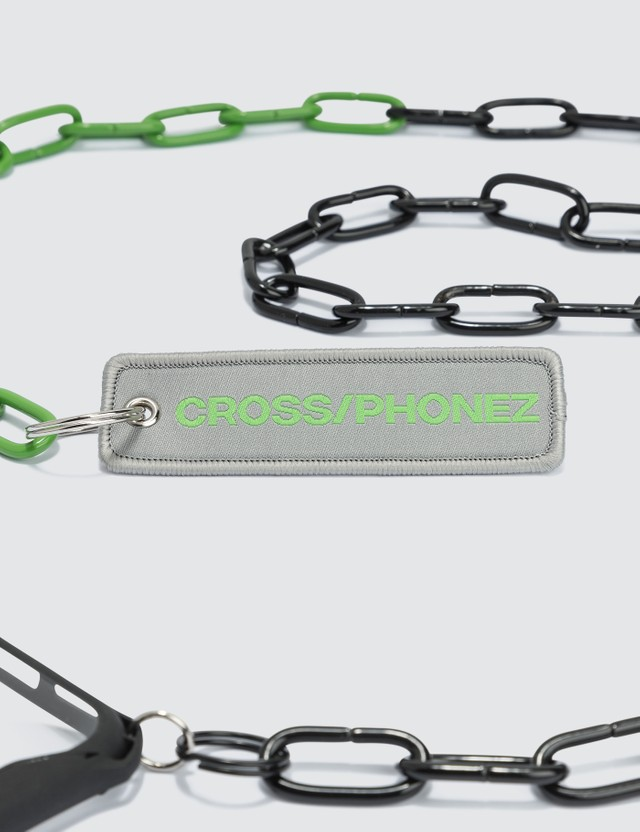 CROSS/PHONEZ Crossphone Black And Green Chain iPhone Case Black Green Men