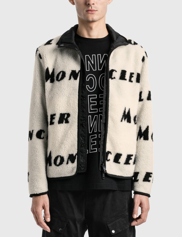 Moncler Reversible Fleece Jacket White Men