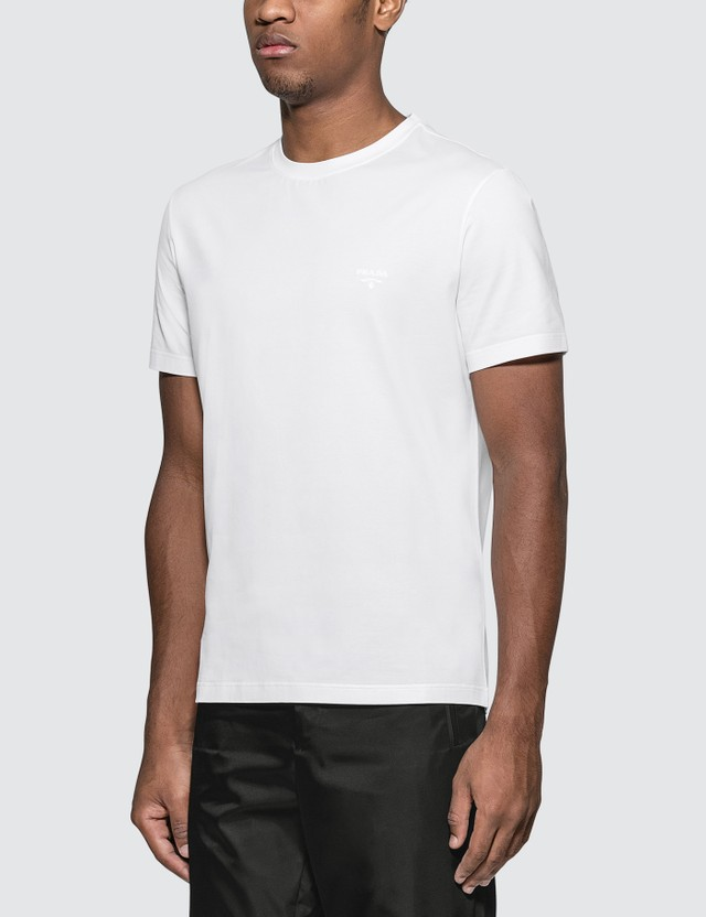 Prada Cotton Stretch Frame Logo T-Shirt