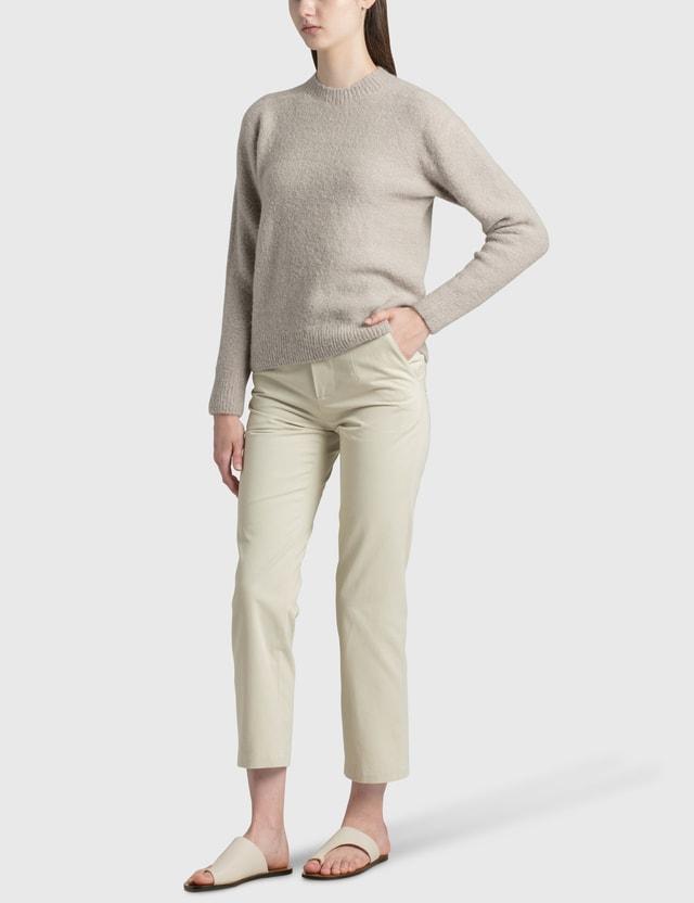 Nothing Written Textured Sweater Grey Women