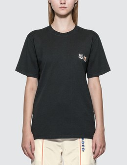 Maison Kitsune Double Fox Head Patch T-shirt