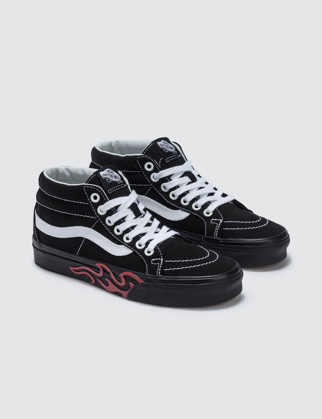 Vans Flame Cut Out Sk8-mid Reissue
