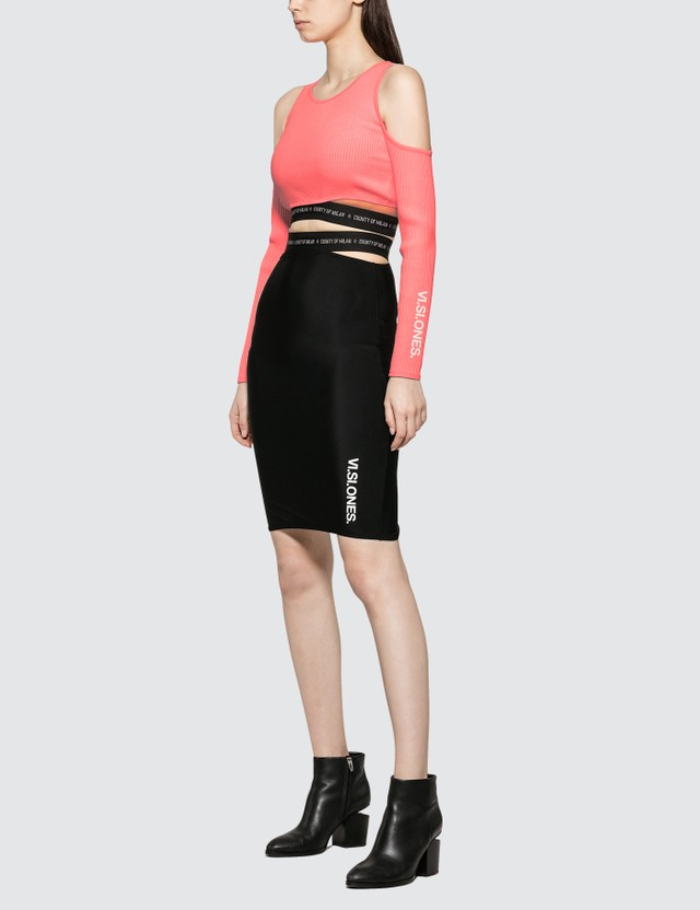 Marcelo Burlon Vi.si.ones Label Top