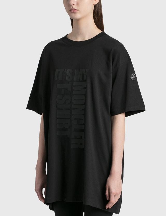 Moncler Oversized Logo T-Shirt Black Women