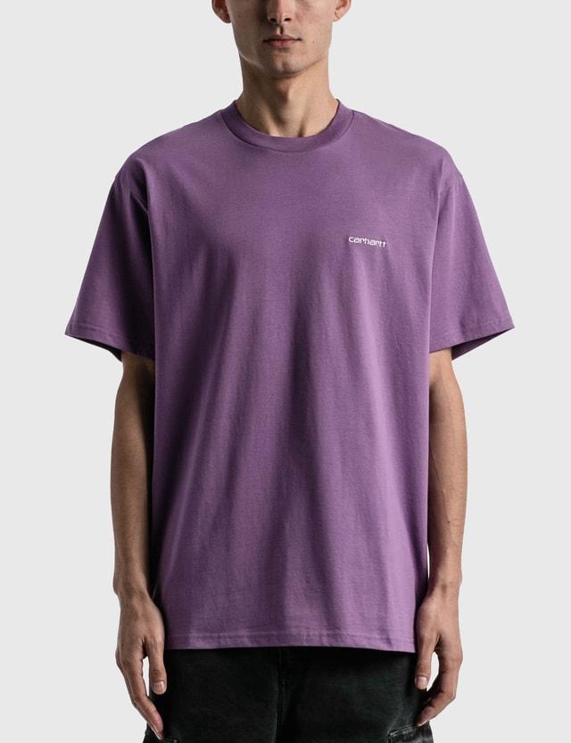 Carhartt Work In Progress Script Embroidery T-shirt Aster / White Men