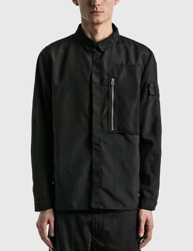 Stone Island Shadow Project Vented Overshirt Black Men