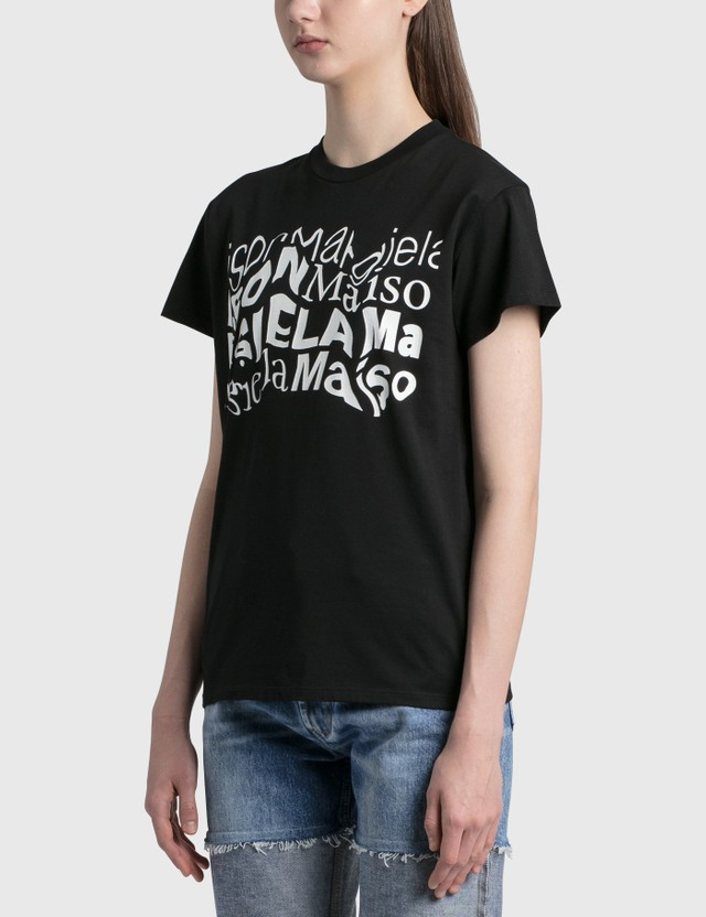 Maison Margiela Distorted Logo T-shirt Black Women