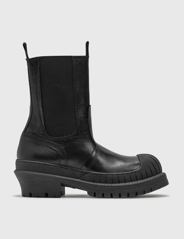 Acne Studios Bryant Chelsea Leather Boots Black Women