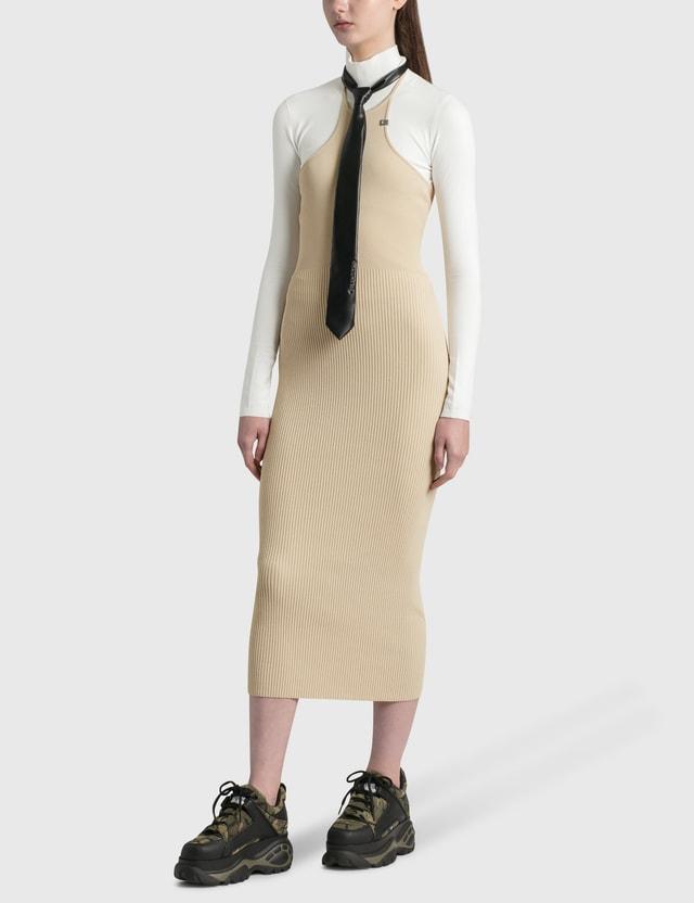1017 ALYX 9SM Ribbed Knit Tank Dress Classic Tan Women