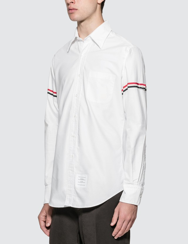 Thom Browne Classic Oxford Shirt With Stripe