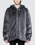 Helmut Lang Oversized Faux Mink Bomber Jacket Picture