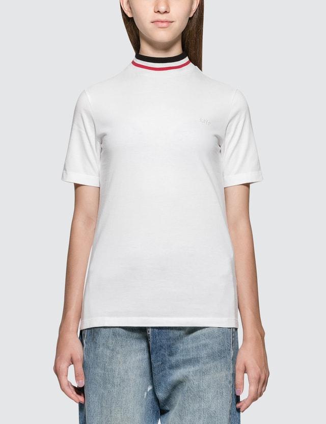 SJYP Color Neck Band Short Sleeve T-shirt White Women