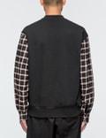 3.1 Phillip Lim Henley Sweatshirt with Flannel Over Sleeve