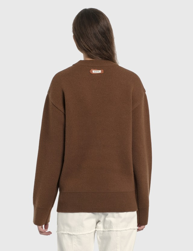 Ader Error Star Logo Oversized Knitted Sweater