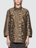 Ganni Jacquard Shirt Black W. Leo Women