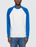 Ami Contrasted Bimaterial Crewneck Sweatshirt Picture