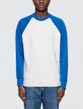 Ami Contrasted Bimaterial Crewneck Sweatshirt Picutre