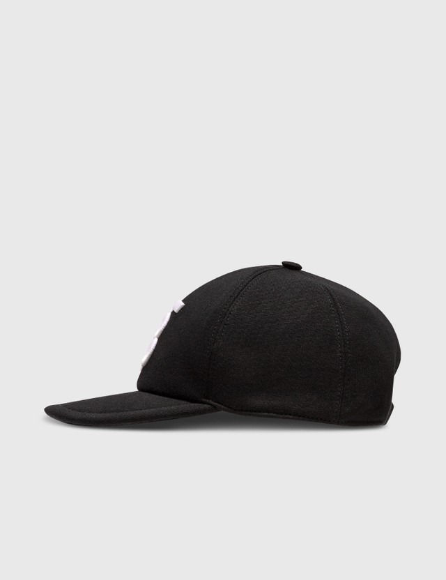 Burberry Monogram Motif Cotton Jersey Baseball Cap Black Men