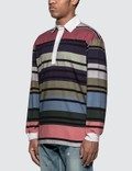 JW Anderson Striped Rugby Jersey Long Sleeve Polo Shirt