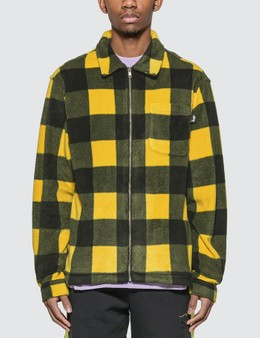 Stussy Polar Fleece Zip Up Shirt
