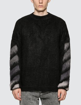 Off-White Brushed Mohair Jumper