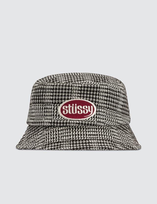 Stussy Lola Plaid Knit Bucket Hat