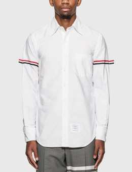 Thom Browne Grosgrain Arm Band Oxford Shirt