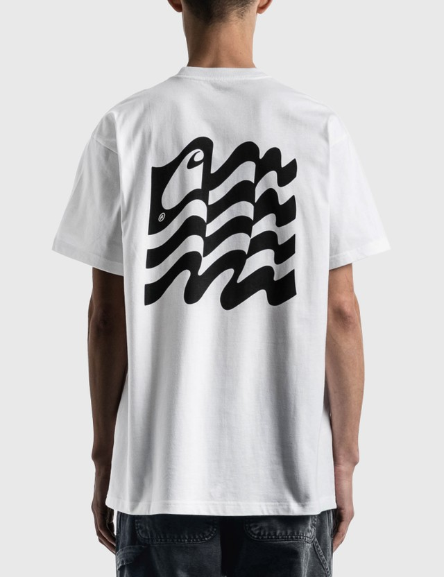 Carhartt Work In Progress Wavy State T-shirt White / Black Men