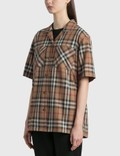 Burberry Kiera Short Sleeve Shirt Birch Brown Ip Chk Women