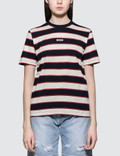 MSGM Nautical Striped Short Sleeve T-shirt Picutre