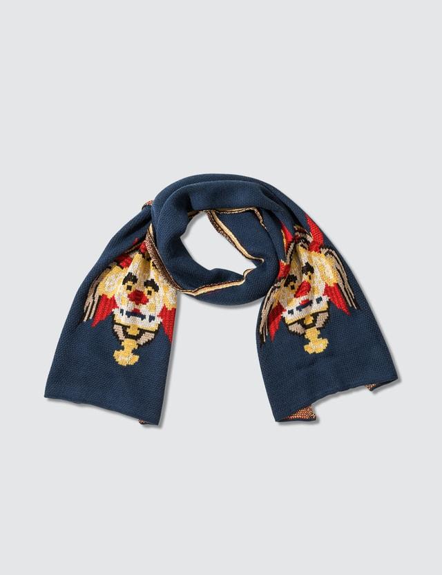 Kirin Haetae Jacquard Knit Over Scarf