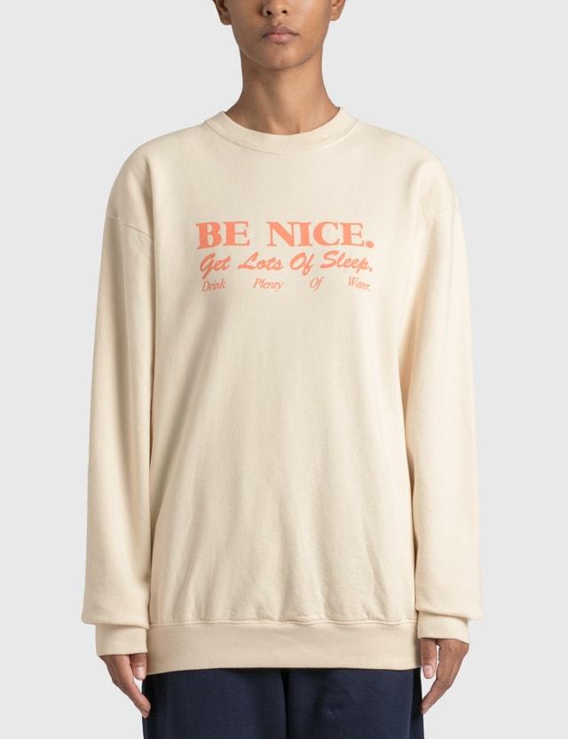 Sporty & Rich Be Nice スウェットシャツ Milk Women