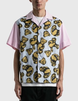 Palm Angels Allover Bears Bowling Shirt