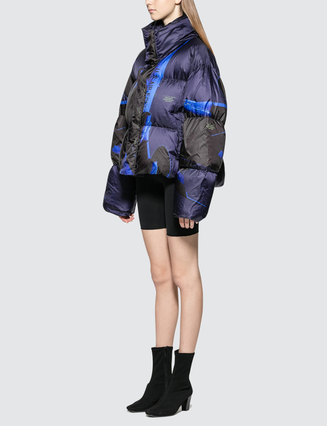 Hyein Seo Printed Down Bomber Jacket
