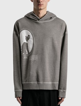 Maison Margiela Garment Dyed Graphic Hoodie