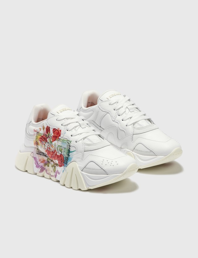 Versace Floral Print Squalo Sneaker