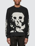 Palm Angels Skull And Flames Sweatshirt Picture