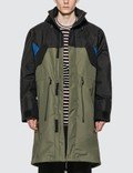 Loewe ELN Fleece Lined Parka Black/khaki Gr Men