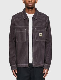 Stussy Overdyed Hickory Ls Zip Shirt