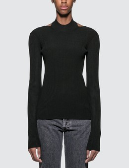 Helmut Lang Viscose Stretch Openback Pullover