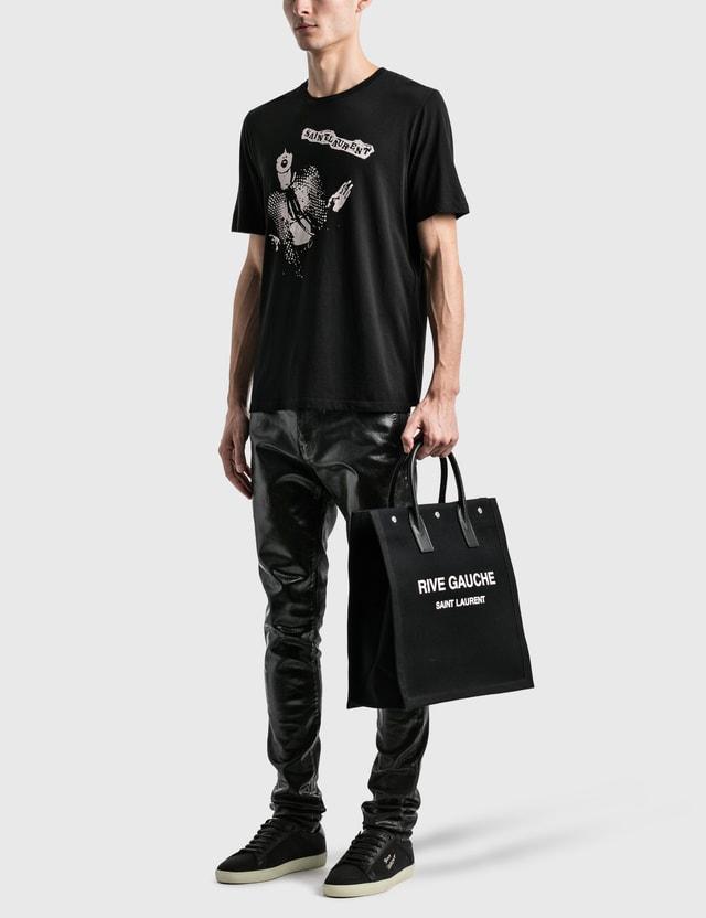 Saint Laurent Saint Laurent Icon T-Shirt Noir/naturel Men