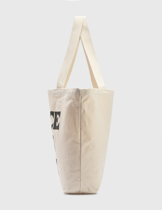 Stussy Peace And Love Canvas Tote Bag Natural Women