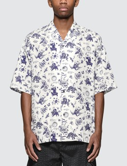 Sasquatchfabrix. Old Nanpou Notched Collar  H/S Shirt