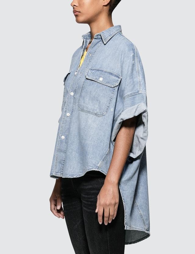 R13 Patti Oversized Short Sleeve Shirt