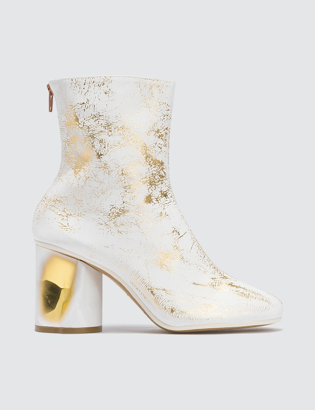 Maison Margiela Crushed Heel Leather Boots