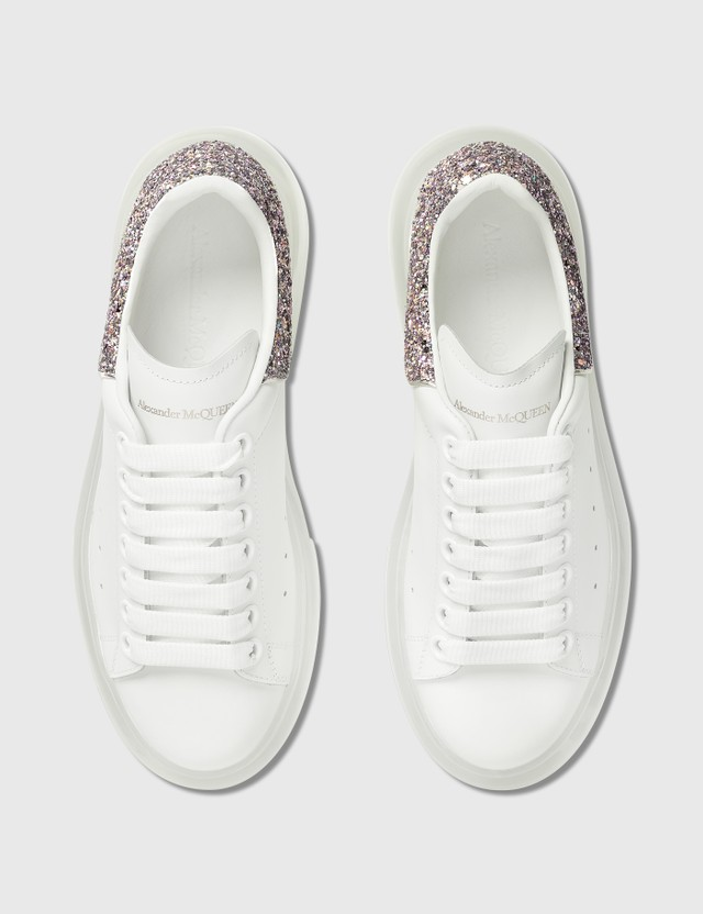 Alexander McQueen Oversized Sneaker With Transparent Sole Whi/candy/li.go./tr Women