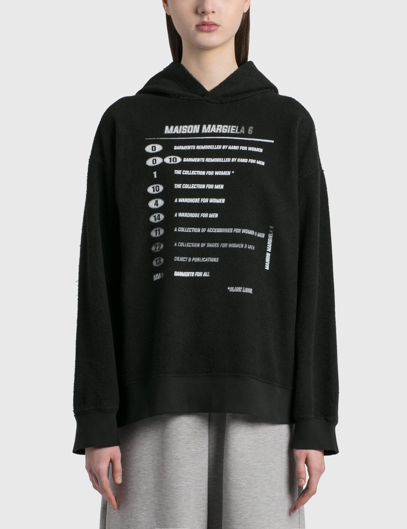 Mm6 Maison Margiela Cottons OVERSIZED PRINTED HOODIE