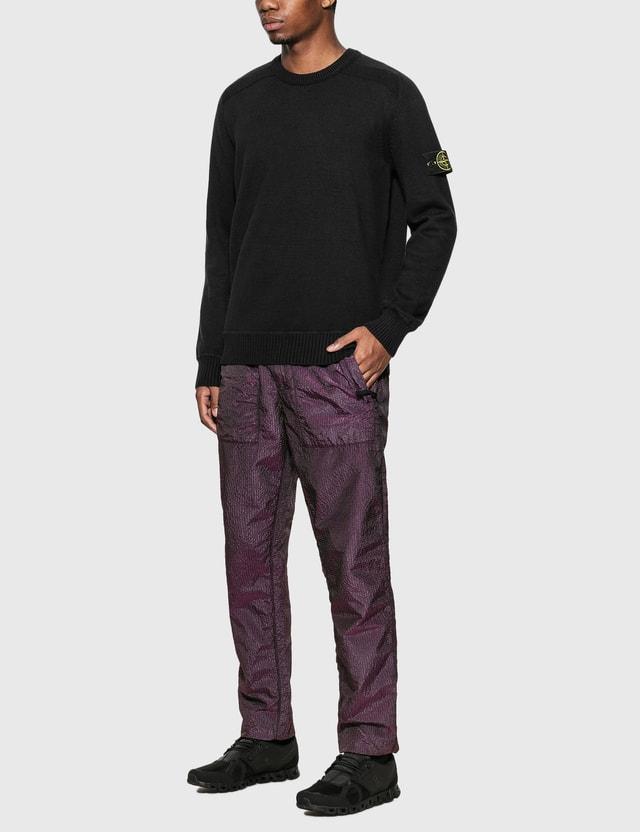 Stone Island Cotton Blend Compass Patch Logo Sweater Nero Men