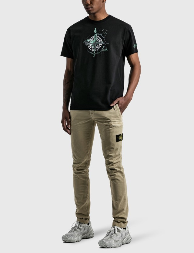 Stone Island Mable One Print Logo T-Shirt Black Men